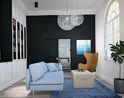 MIESZKANIE W KAMIENICY - Średni biały czarny salon - zdjęcie od LUIZA STAR - Homebook
