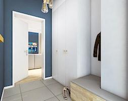 DOM NA ZŁOTNIE - Średni biały niebieski hol / przedpokój, styl nowoczesny - zdjęcie od LUIZA STAR - Homebook