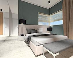 DOM NA ZŁOTNIE - Średnia biała zielona sypialnia małżeńska, styl nowoczesny - zdjęcie od LUIZA STAR - Homebook
