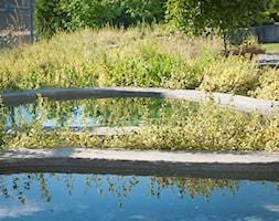 Ogród w Siewierzu - Średni ogród z oczkiem wodnym, styl nowoczesny - zdjęcie od Pracownia Projektowa Architektury Krajobrazu Januszówka