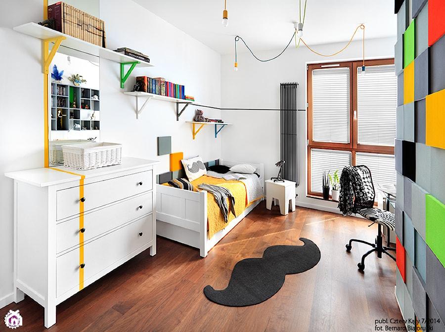 Metamorfoza pokoju Mariki - Średni pokój dziecka dla chłopca dla nastolatka, styl nowoczesny ...