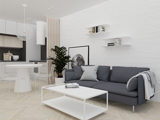 Biała cegła na ścianie – 7 pomysłów na aranżację wnętrz z białą cegłą