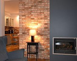 Aranżacje - Mały szary biały salon z kuchnią z jadalnią, styl tradycyjny - zdjęcie od Elkamino Dom