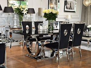 Stół i krzesła do jadalni ze stali w stylu Glamour i Nowoczesnym