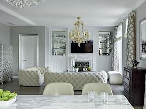 Apartament w stulu Nowojorskim i glamour - luksusowe wnetrza: salon, sypialnia