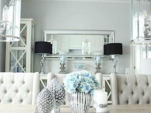 Taca lustrzana kwadratowa, srebrna, glamour - zdjęcie od PRIMAVERA-HOME.COM