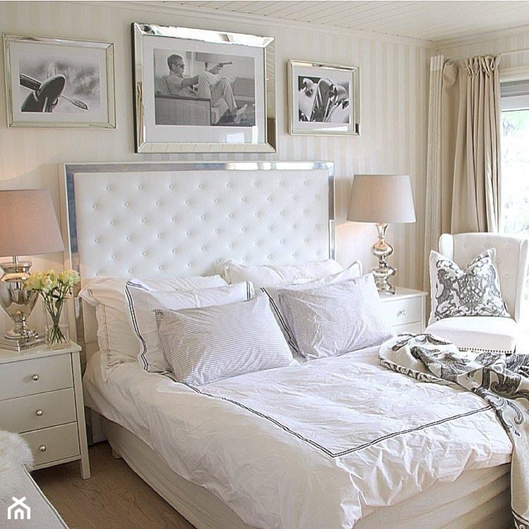 łóżka Tapicerowane W Stylu Nowojorskim I Glamour Sypialnia