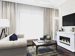 Wnętrza w Stylu Nowojorskim - Mały biały salon, styl nowojorski - zdjęcie od PRIMAVERA-HOME.COM