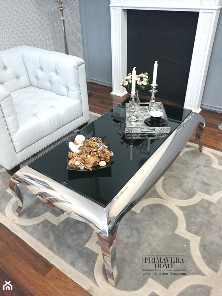 Salon w stylu Glamour - Średni szary salon, styl nowoczesny - zdjęcie od PRIMAVERA-HOME.COM