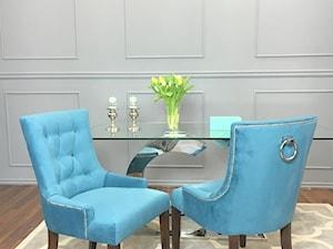Salon w stylu Glamour - Szara jadalnia, styl prowansalski - zdjęcie od PRIMAVERA-HOME.COM