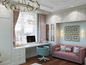 Meble tapicerowane na zamówinie w stylu nowojorskim i glamour - Średni niebieski pokój dziecka dla chłopca dla dziewczynki dla ucznia dla nastolatka, styl glamour - zdjęcie od PRIMAVERA-HOME.COM