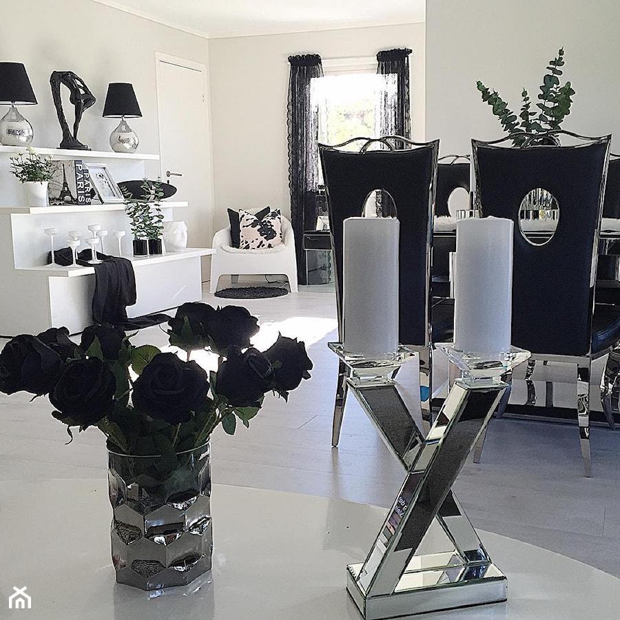 Salon w stylu Glamour - Średnia szara jadalnia, styl glamour - zdjęcie od PRIMAVERA-HOME.COM
