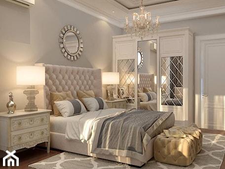 Aranżacje wnętrz - Sypialnia: Lustro dekoracyjne w stylu nowojorskim glamour LUNA - PRIMAVERA-HOME.COM. Przeglądaj, dodawaj i zapisuj najlepsze zdjęcia, pomysły i inspiracje designerskie. W bazie mamy już prawie milion fotografii!
