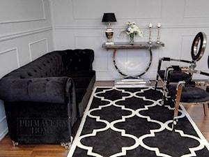 sofa czarna AVIATOR w stylu Glamour