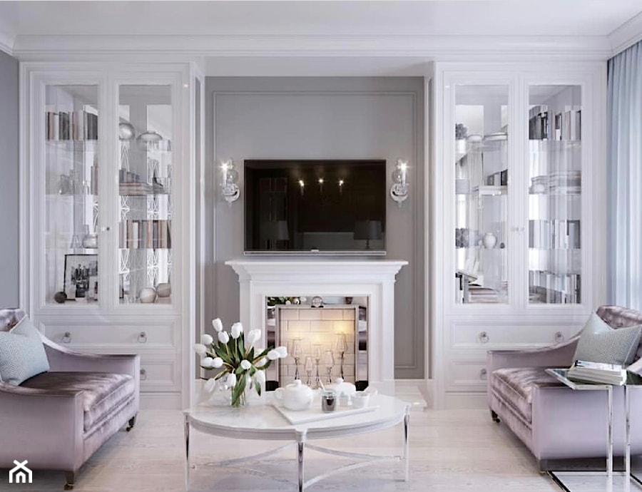 Meble na zamówinie w stylu Glamour i Nowojorskim - Mały szary salon, styl nowojorski - zdjęcie od PRIMAVERA-HOME.COM