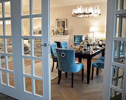 Inspiracja wystroju mieszkania w stylu nowojorskim - Średnia beżowa jadalnia w salonie - zdjęcie od PRIMAVERA-HOME.COM