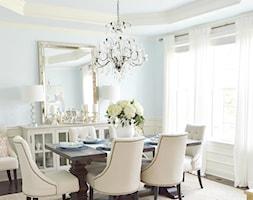Wnętrza w Stylu Nowojorskim - Średnia beżowa niebieska jadalnia jako osobne pomieszczenie, styl nowojorski - zdjęcie od PRIMAVERA-HOME.COM