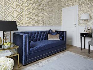 Apartament w stulu Nowojorskim - luksusowe wnetrza: salon, sypialnia