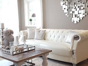 Nowoczesna sofa bała MODERN GLAMOUR