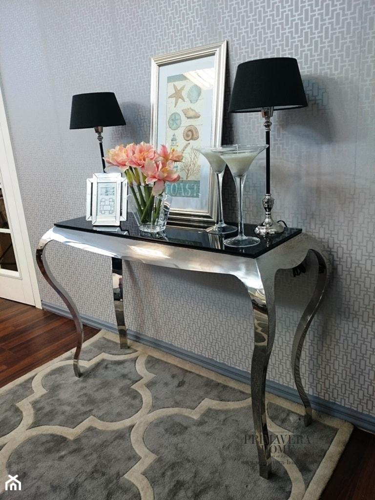 Salon w stylu Glamour - Mały szary salon, styl klasyczny - zdjęcie od PRIMAVERA-HOME.COM