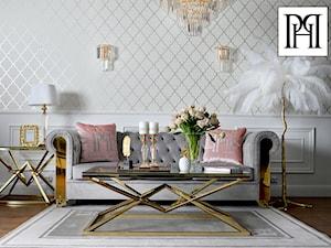 Nowoczesny salon w stylu Glamour