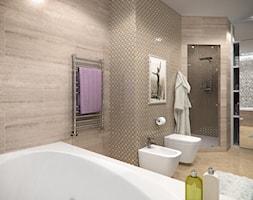 Wnętrza w Stylu Nowojorskim - Średnia beżowa łazienka w domu jednorodzinnym bez okna, styl nowojorski - zdjęcie od PRIMAVERA-HOME.COM