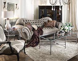 SOFY nowoczesne, glamour, nowojorskie - Mały biały salon, styl włoski - zdjęcie od PRIMAVERA-HOME.COM