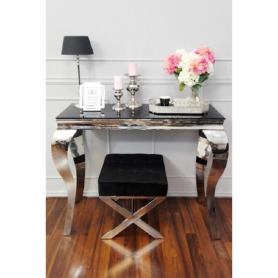 Salon w stylu Glamour - Mały biały salon, styl glamour - zdjęcie od PRIMAVERA-HOME.COM