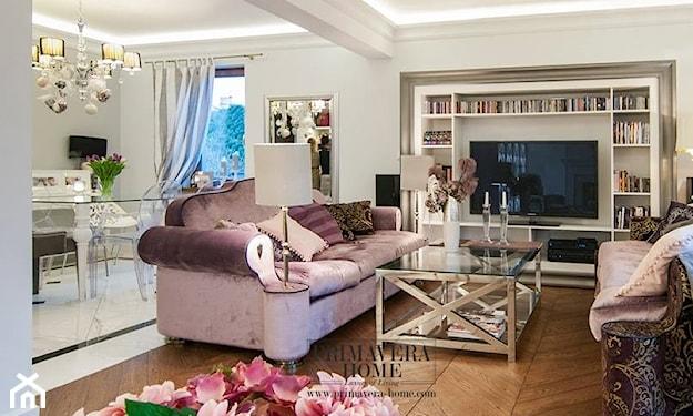 elegancki salon w stylu glamour