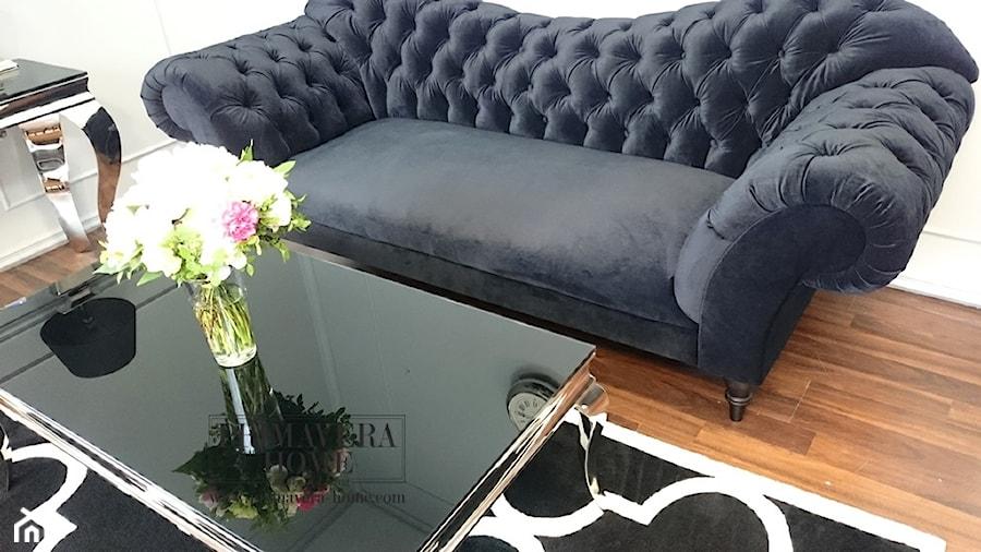 Salon w stylu Glamour - Średni biały salon, styl eklektyczny - zdjęcie od PRIMAVERA-HOME.COM