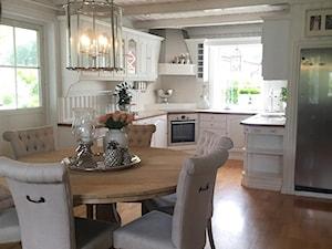 Wnętrza w stulu PROWANSALSKIM I SHABBY CHIC - Średnia otwarta beżowa kuchnia w kształcie litery u, styl rustykalny - zdjęcie od PRIMAVERA-HOME.COM