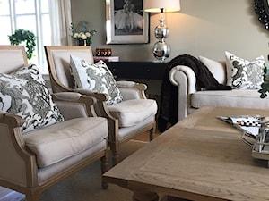 Wnętrza w stulu PROWANSALSKIM I SHABBY CHIC - Średni szary beżowy salon, styl eklektyczny - zdjęcie od PRIMAVERA-HOME.COM