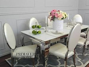 Jadalnia w stulu Glamour - Średnia biała jadalnia, styl włoski - zdjęcie od PRIMAVERA-HOME.COM