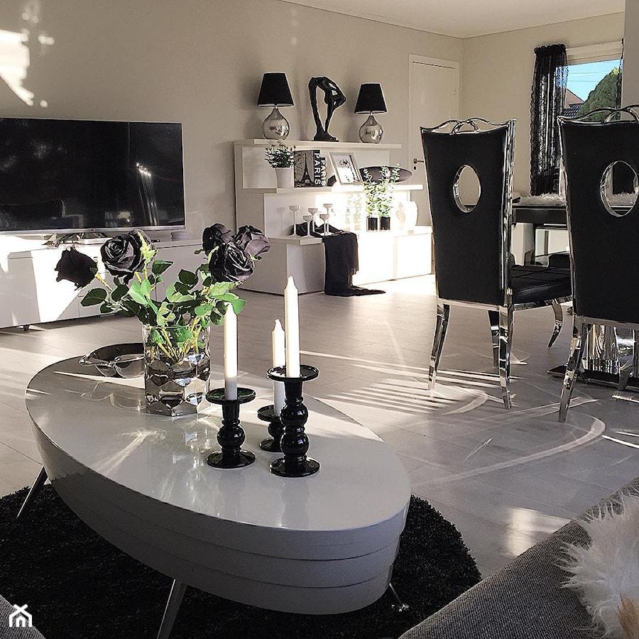 Salon w stylu Glamour - Średni beżowy salon, styl glamour - zdjęcie od PRIMAVERA-HOME.COM