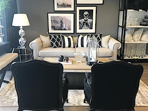 Fotel tapicerowany LUDWIK 203 szary w stylu prowansalskim francuskim shabby chic - zdjęcie od PRIMAVERA-HOME.COM