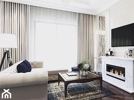 Wnętrza w stulu nowojorskim. Meble lustrzane i tapicerowane z naszej oferty. - Mały beżowy salon, styl glamour - zdjęcie od PRIMAVERA-HOME.COM