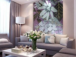 Łazienka w stylu Glamour z obrazem z  mozaiki