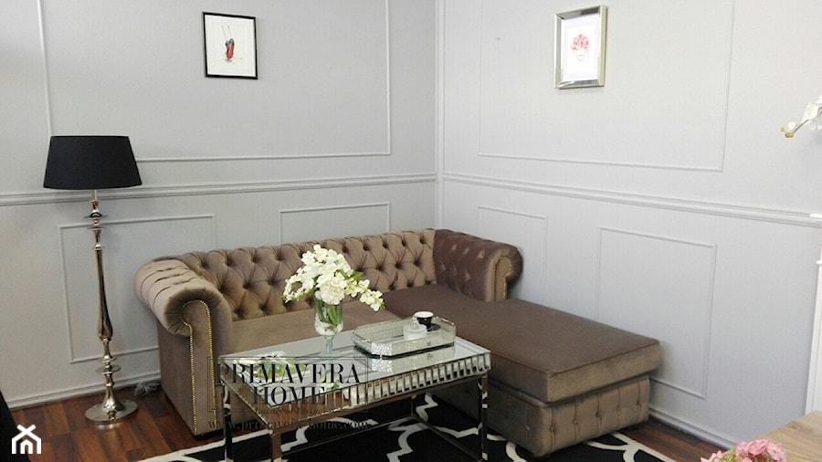 Nowoczesne Sofy Narożne Rozkladane średni Biały Salon