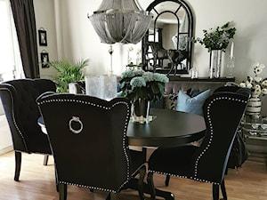 Krzesła tapicerowane z kplatką w stylu Prowansalskim Shabby chic
