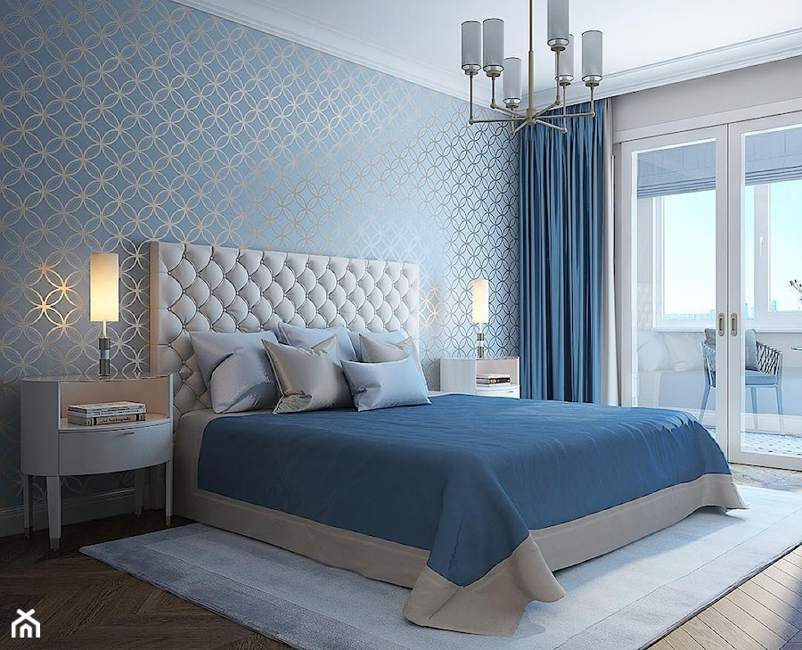 Classic łóżko Tapicerowane Pikowane Chesterfield Szare