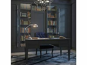 Meble tapicerowane na zamówinie w stylu nowojorskim i glamour - Średnie czarne biuro pracownia w pokoju, styl nowojorski - zdjęcie od PRIMAVERA-HOME.COM