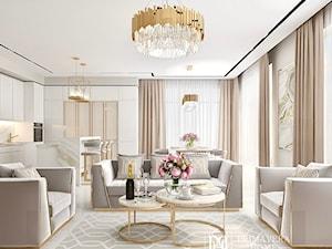Nowoczesny salon w stylu Glamour - inspiracje Primavera Home