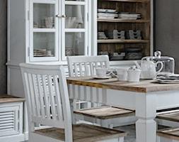 Wnętrza w stulu PROWANSALSKIM I SHABBY CHIC - Mała szara jadalnia, styl prowansalski - zdjęcie od PRIMAVERA-HOME.COM