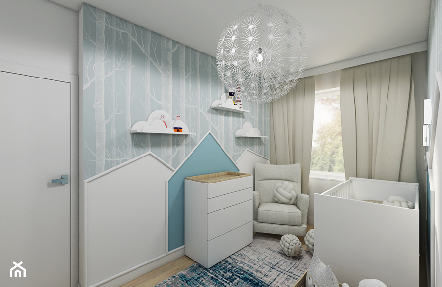 Burza piaskowa - Średni biały szary pokój dziecka dla chłopca dla dziewczynki dla niemowlaka, styl nowoczesny - zdjęcie od Creoline