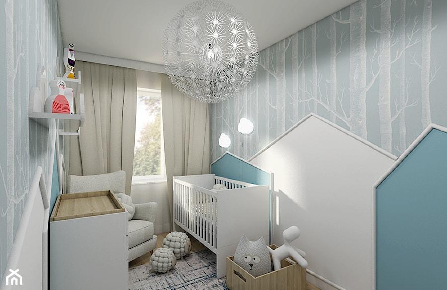 Burza piaskowa - Mały szary pokój dziecka dla chłopca dla dziewczynki dla niemowlaka, styl nowoczesny - zdjęcie od Creoline