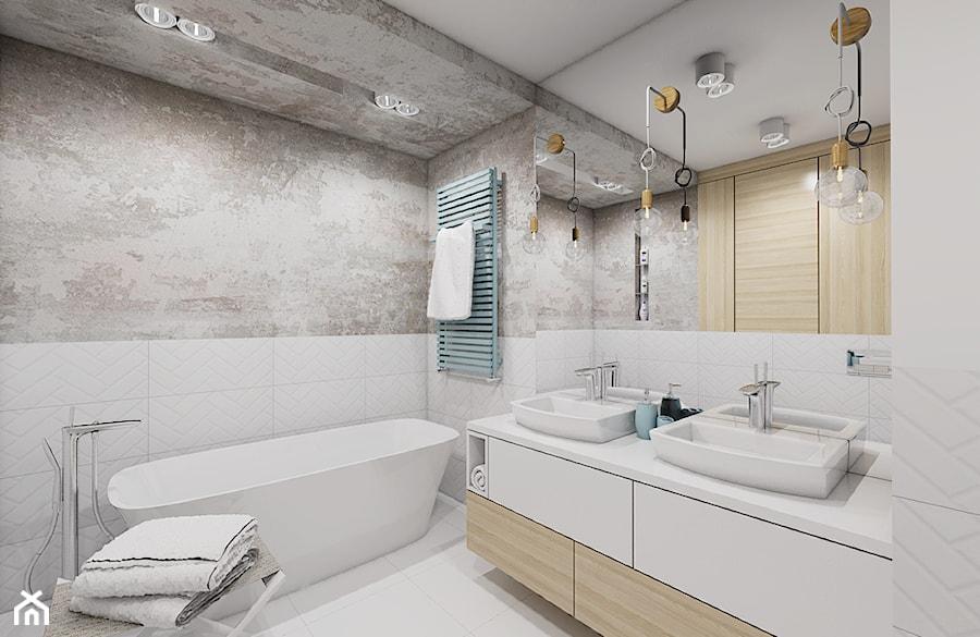 Burza piaskowa - Średnia łazienka w bloku w domu jednorodzinnym bez okna, styl nowoczesny - zdjęcie od Creoline