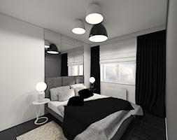 Sedno tkwi w detalach - Mała szara sypialnia małżeńska, styl nowoczesny - zdjęcie od Creoline