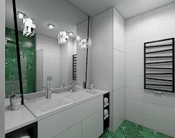 Paryski Szyk - Mała łazienka w bloku w domu jednorodzinnym bez okna, styl art deco - zdjęcie od Creoline
