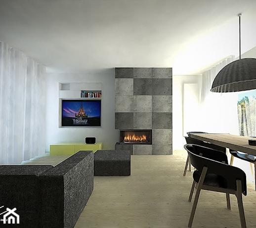 Salon Z Kominkiem I Telewizorem Aranżacje Pomysły Inspiracje Z