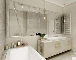 Podwarszawska oaza - Średnia beżowa łazienka bez okna, styl nowoczesny - zdjęcie od Anna Wrona